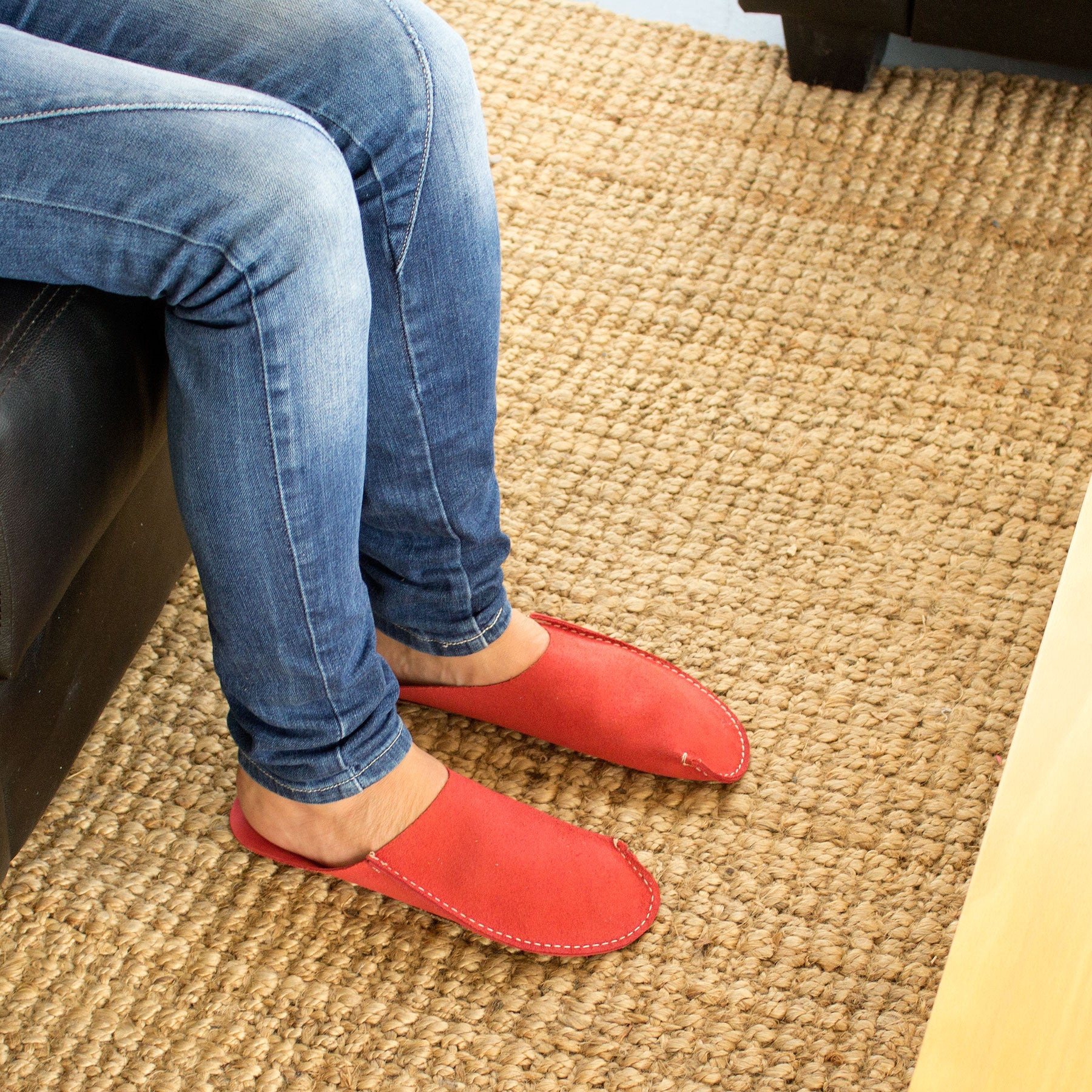 Red CP Slippers minimalist home slippers for man and woman