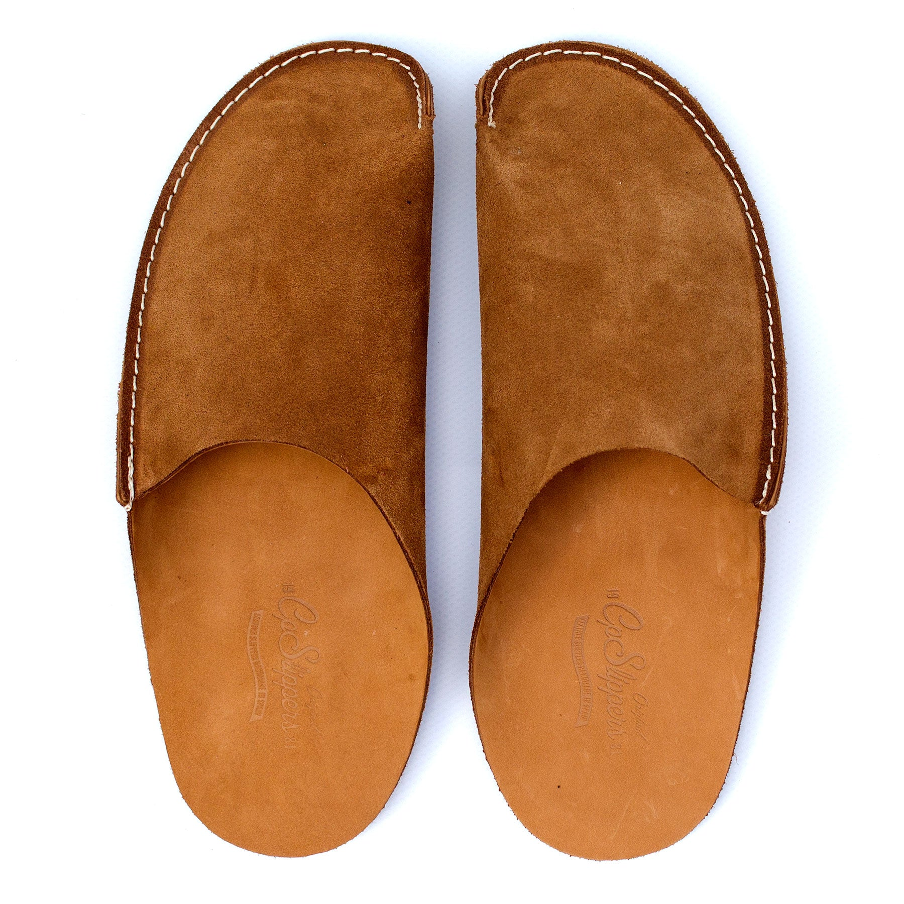 Tan CP Slippers minimalist home shoes for man and woman