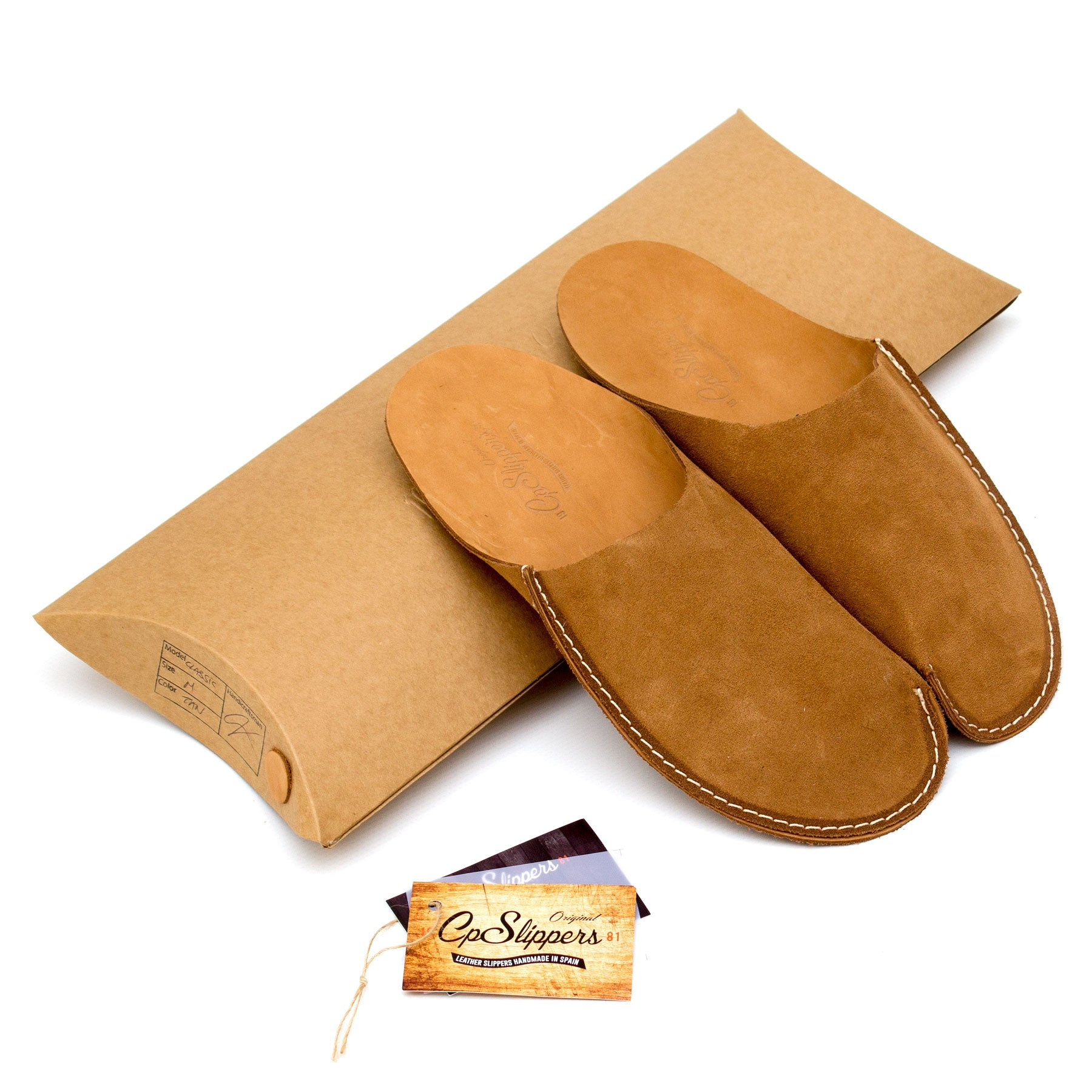 Tan CP Slippers L minimalist for man and woman