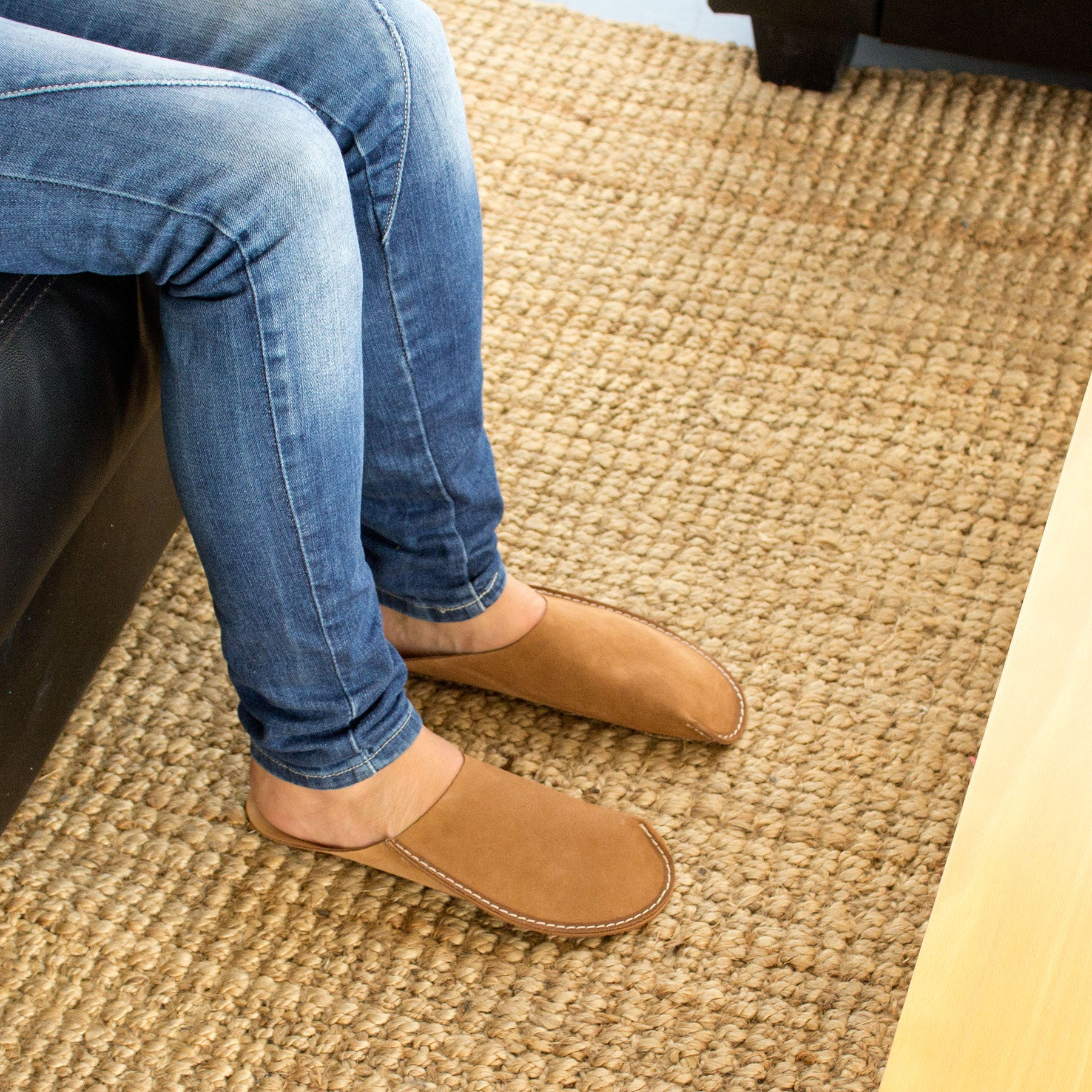 Tan CP Slippers Minimalist slippers shoes for man and woman at home