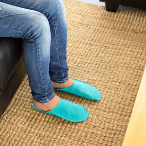 Turquoise CP Slippers Minimalist home shoes to stay at home