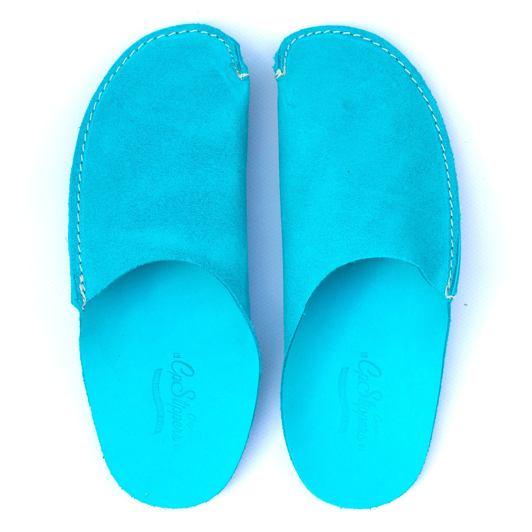 Turquoise CP Slippers Minimalist home shoes for man and woman