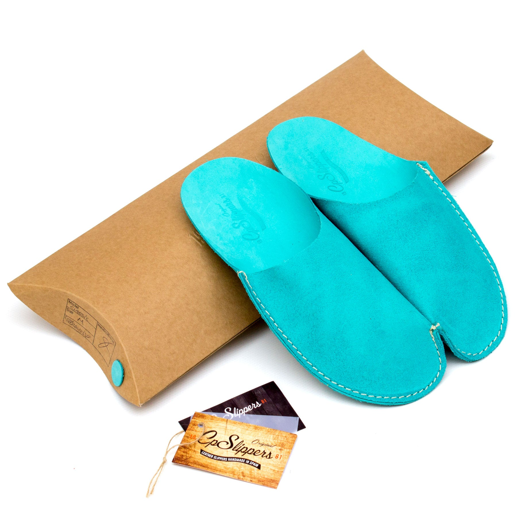 Turquoise CP Slippers Minimalist slipper shoes for man and woman