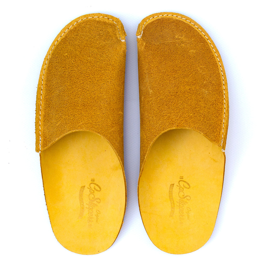 Yellow CP Slippers Minimalist home shoes for man and woman