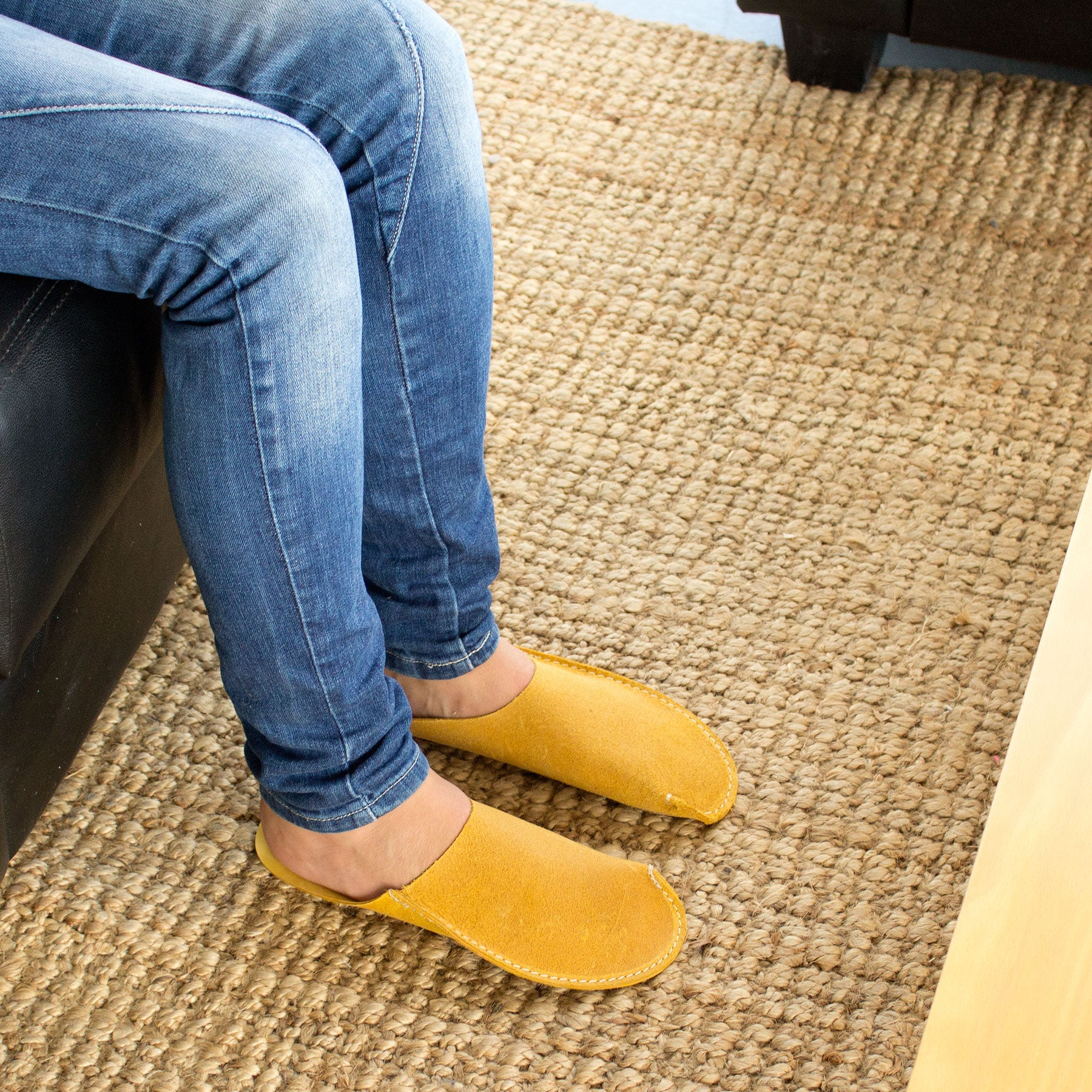 Yellow CP Slippers Minimalist home shoes for man and woman to stay at home