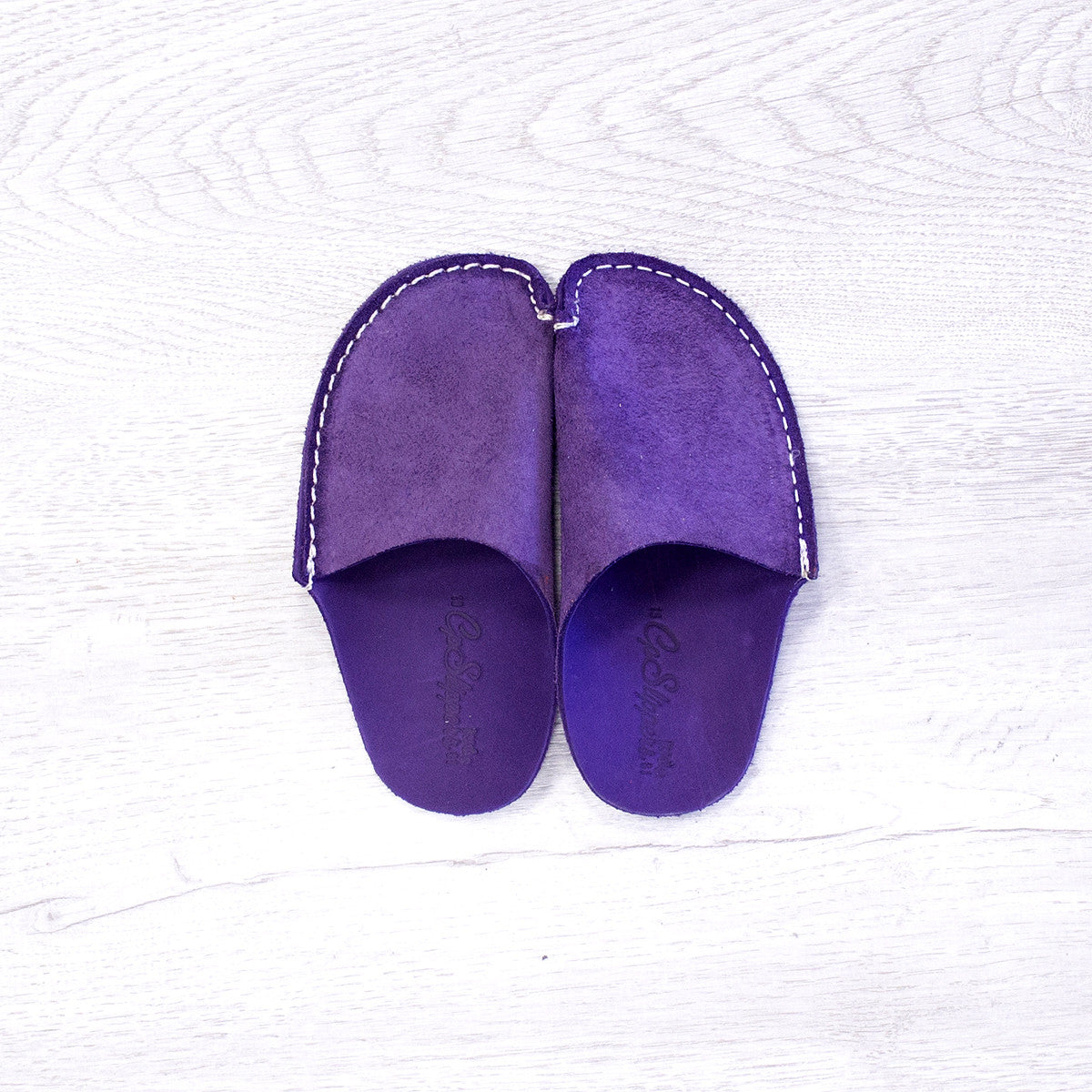 Violet Leather Kids Slipper - CP Slippers
