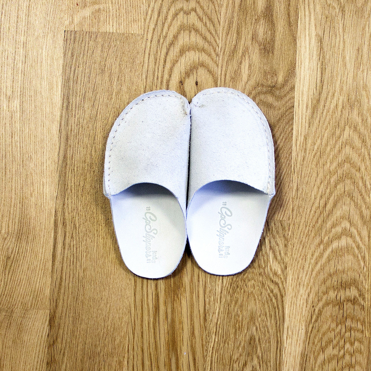Natural Leather Kids Slipper - CP Slippers