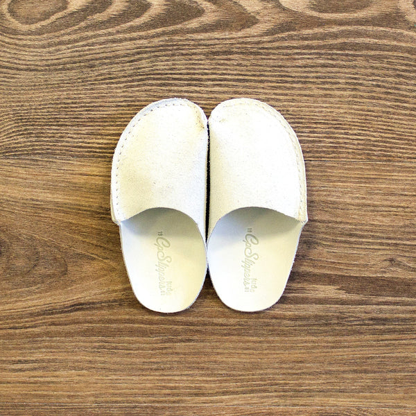Natural Leather Kids Slipper