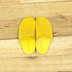 Yellow Leather Kids Slipper - CP Slippers