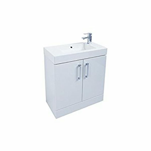 Liberty 2 Door Floor Standing Unit With Ceramic Basin (Click To View Various Sizes/Colour Options)