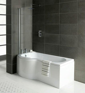 Armis P Shaped Bath, Complete With Panels And Bath Screen (Click To View Various Sizes)