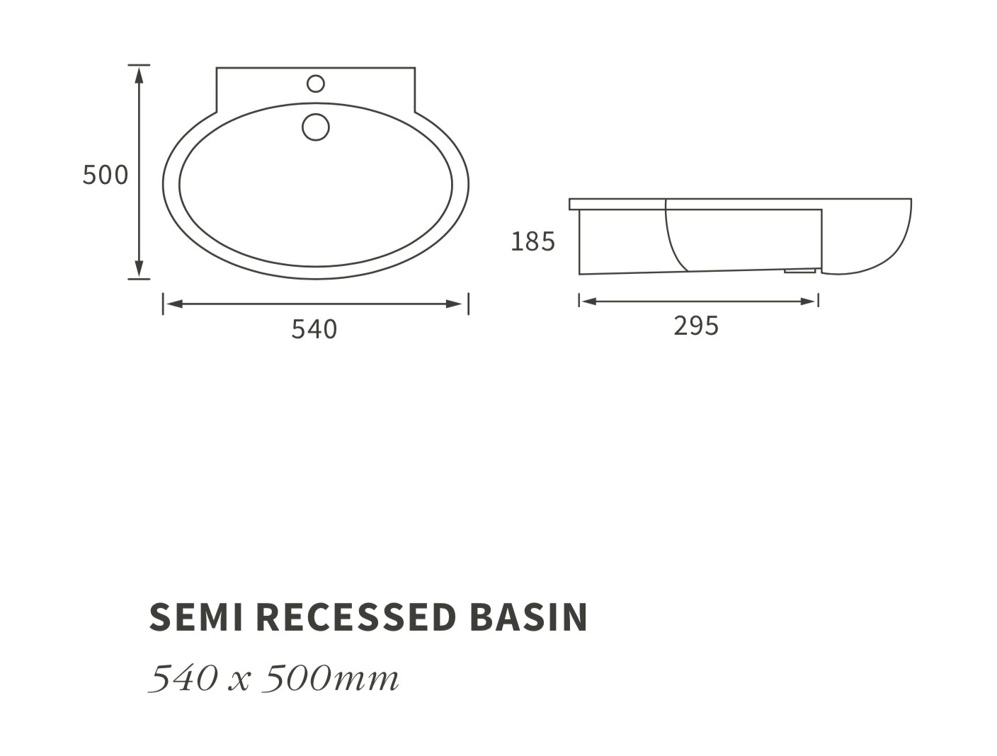 Mimosa Semi Recessed Basin
