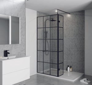 Krittal Wet Room Screen and 300mm Optional Return Panel