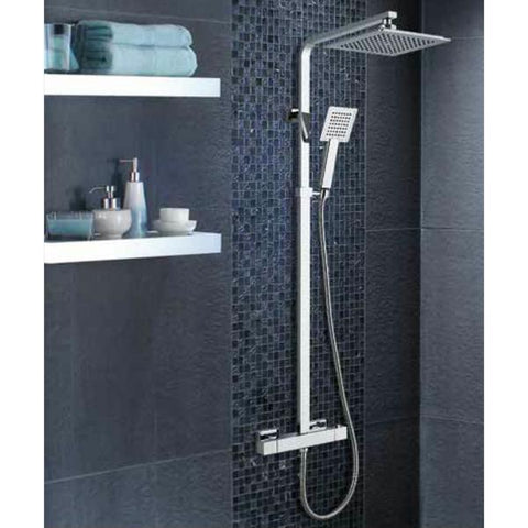 Technique Quadra Thermostatic With Adjustable Riser And Overhead Soaker