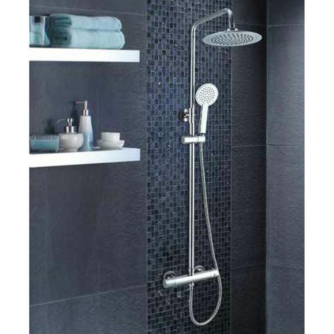 Technique Rotonda Thermostatic With Adjustable Riser And Overhead Soaker
