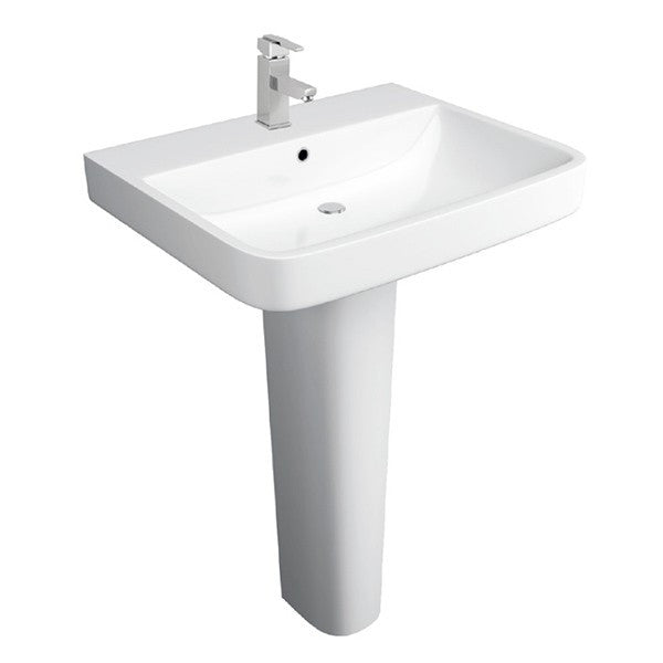 Sicily 550mm 1TH Basin With Pedestal