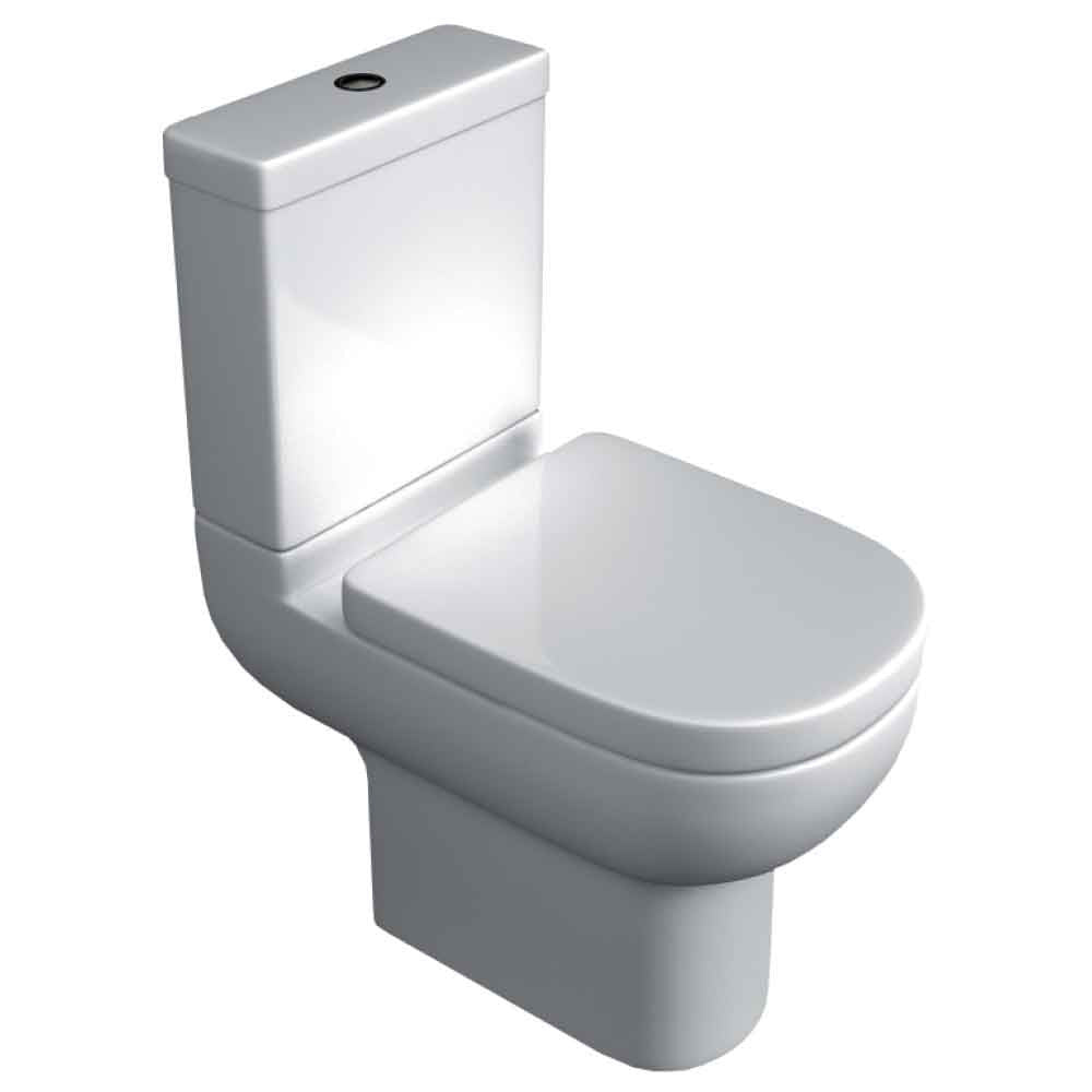 Studio Close Coupled Toilet, Cistern And Soft Close Seat