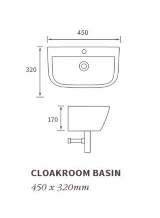 Cedarwood Cloakroom Basin