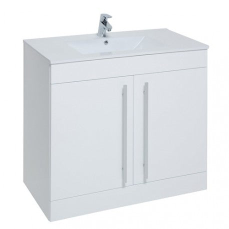 Purity Floor Standing 2 Door Unit & Ceramic Basin (Click To View Various Sizes/Colour Options)