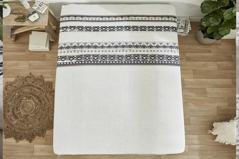 Hoeslaken matras - Dreamhouse Bedding - Scandinavian - Wit