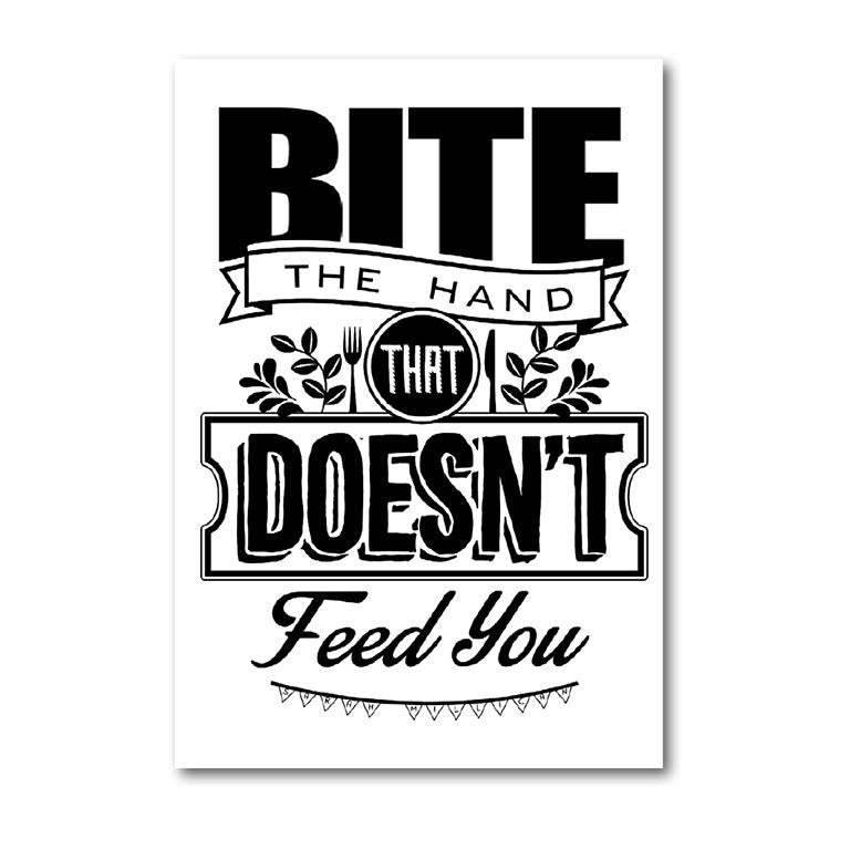 'Bite The Hand' Tea Towel
