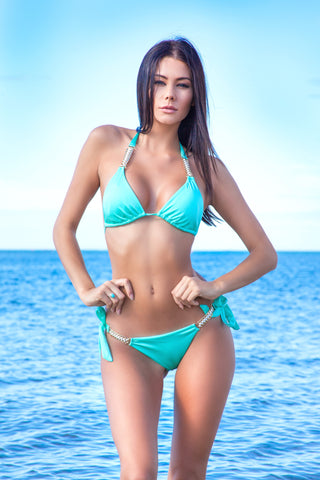 Forever Young Turquoise Triangle Bikini
