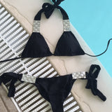 Miss Monroe Black Triangle Bikini