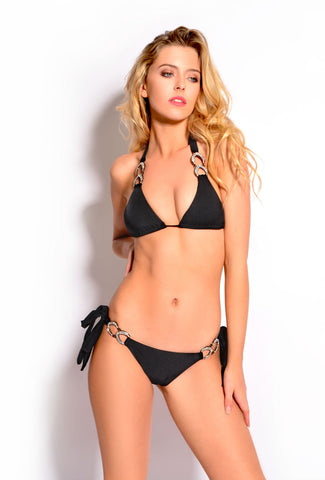 Lady Luck Black Triangle Bikini