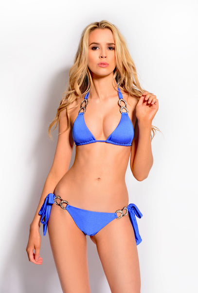 Lady Luck Blue Triangle Bikini