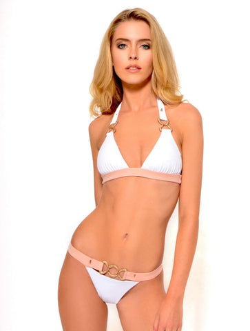 She's Got a Way White Triangle Bikini