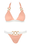 She's Got a Way Peach Triangle Bikini