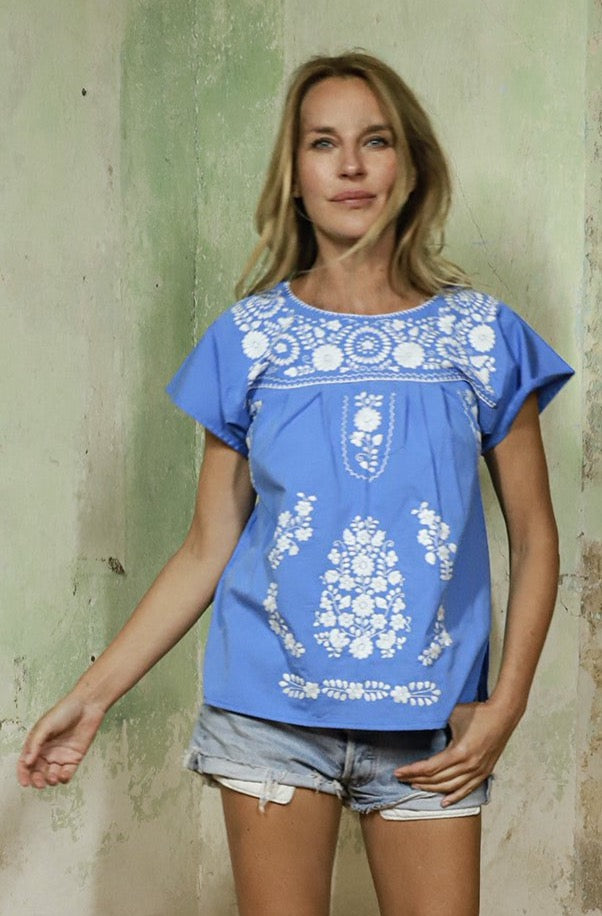 THE MOMMY´S BLUE SUMMER TOP
