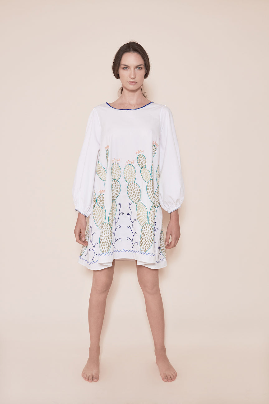 THE NOPALES DRESS - WHITE