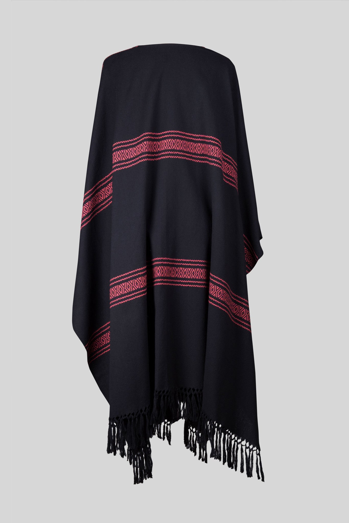 AUTUMN BLACK PONCHO