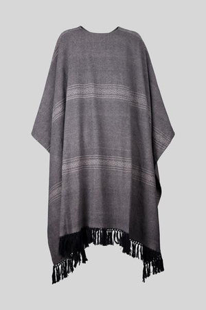 AUTUMN GRAY PONCHO