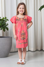 THE GIRL CORAL DRESS