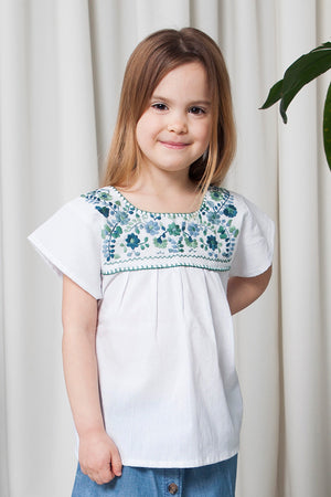 THE GIRLS AQUA SUMMER SHIRT