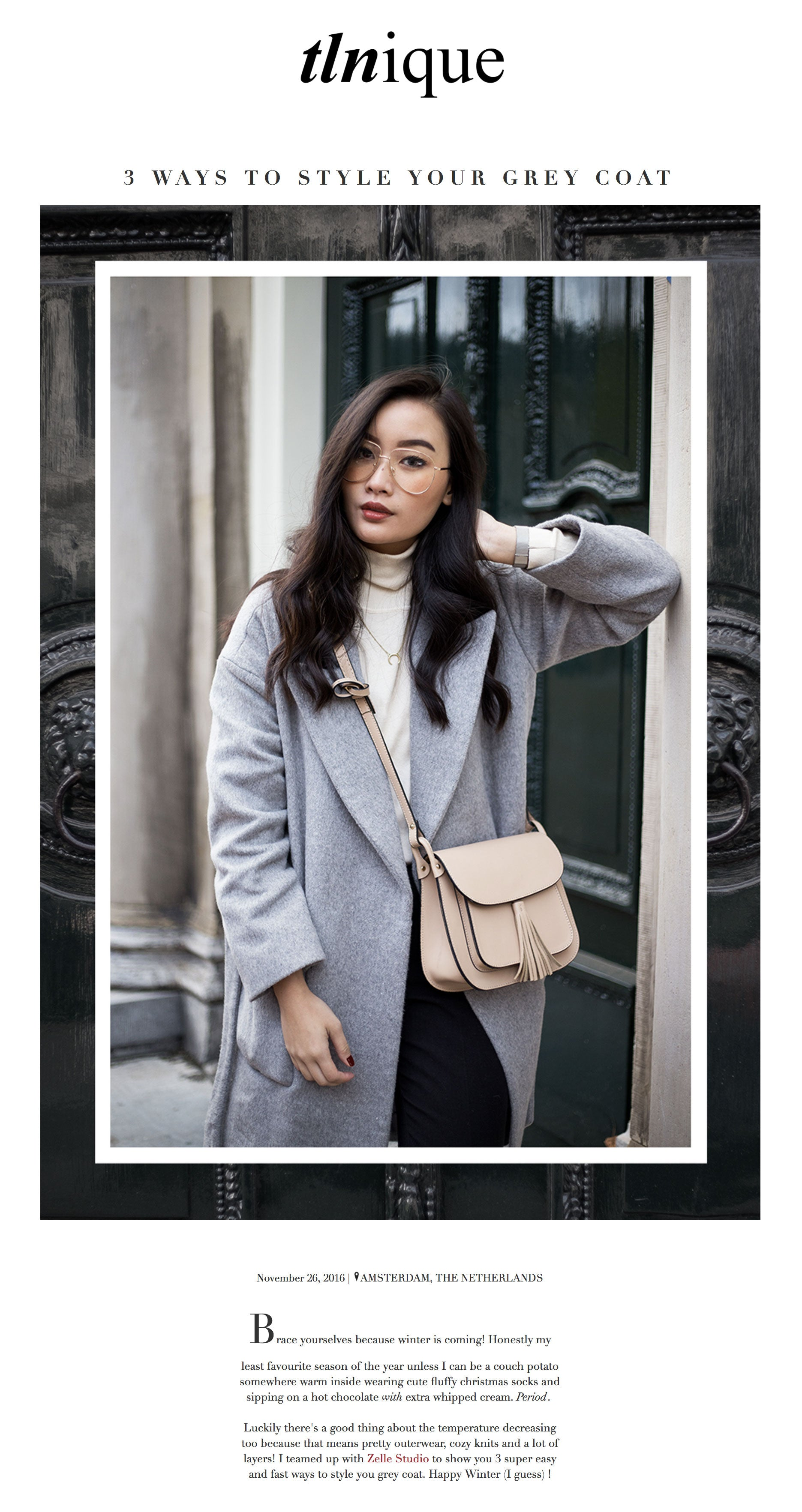 Tlnique: 3 Ways To Style Your Grey Coat