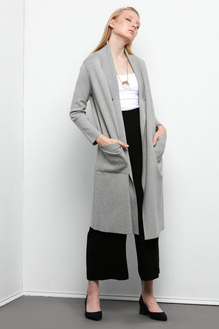 Fay - Long Faux Leather Coat