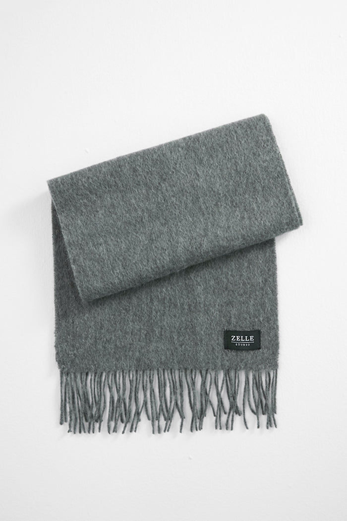 Jeremia - Wool Scarf With Fringe - Zelle Studio