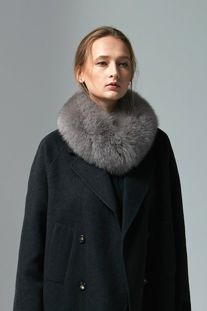 Tib - Fox Fur Collar With Magnet Close