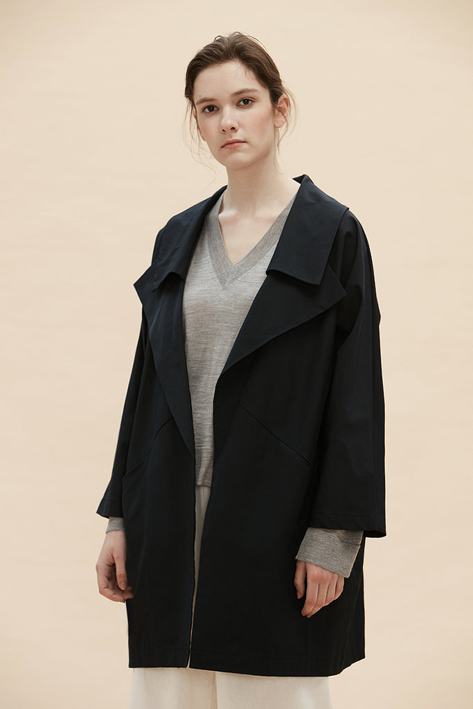 Medici - Deconstructed Trench Coat With Pockets - Zelle Studio