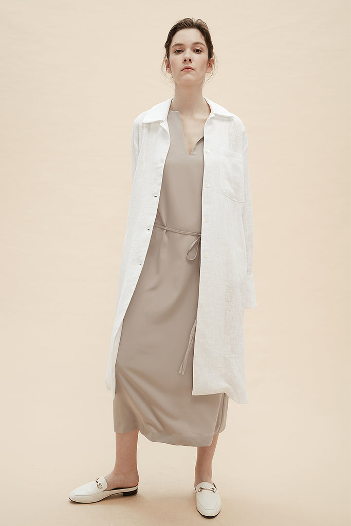 Jade - Cotton Linen Smock Coat - Zelle Studio