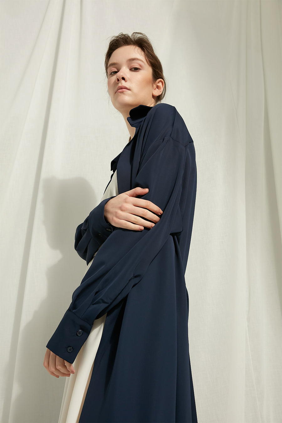 Nissa - Chiffon Dress Coat - Zelle Studio