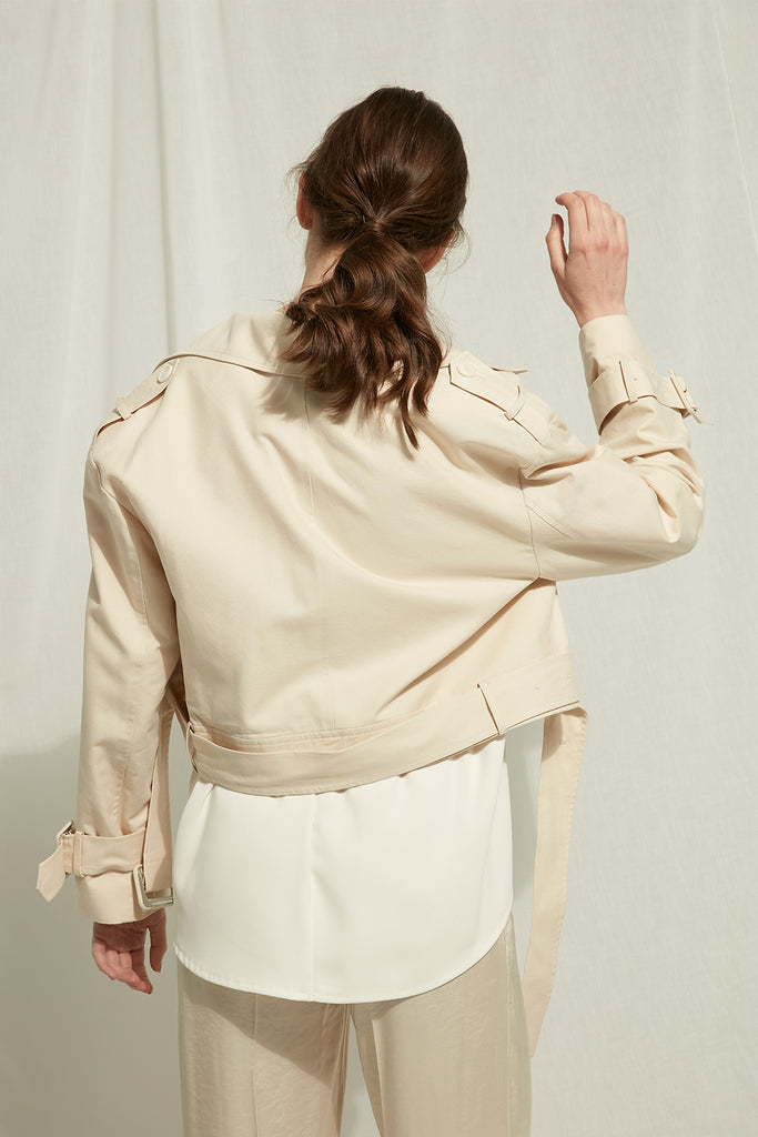 Meta - Trench Coat / Biker Jacket In One - Zelle Studio