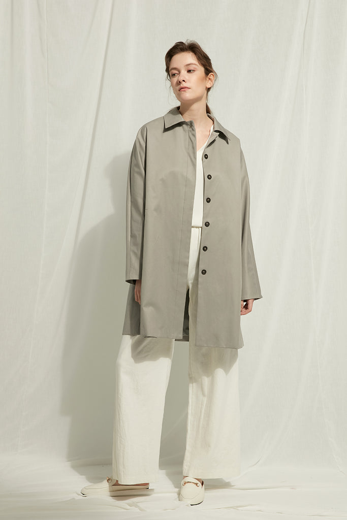 Rashi - Lightweight Buttoned Mackintosh - Zelle Studio