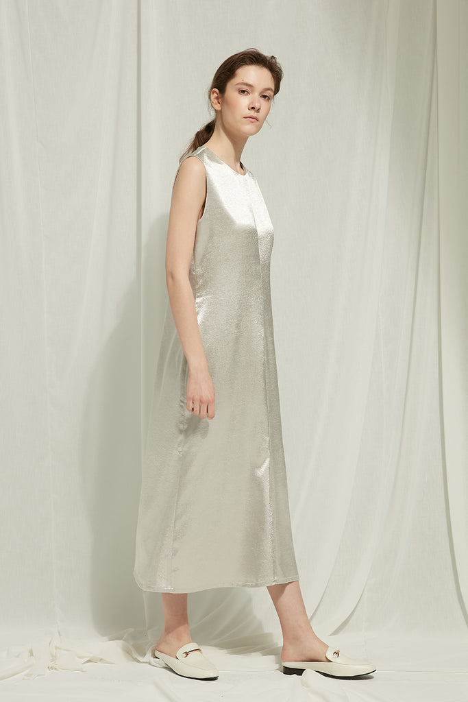 Eram - Satin Zipped Dress - Zelle Studio