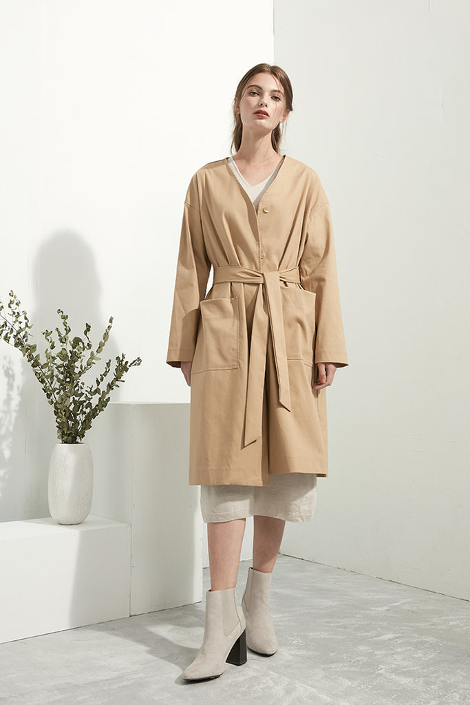 Bridgewater Tan Oversized Coat - Zelle Studio