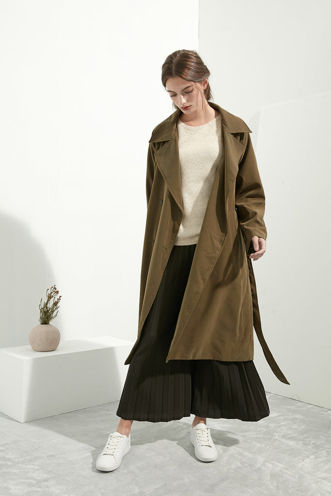 Oversized Army Trench Coat