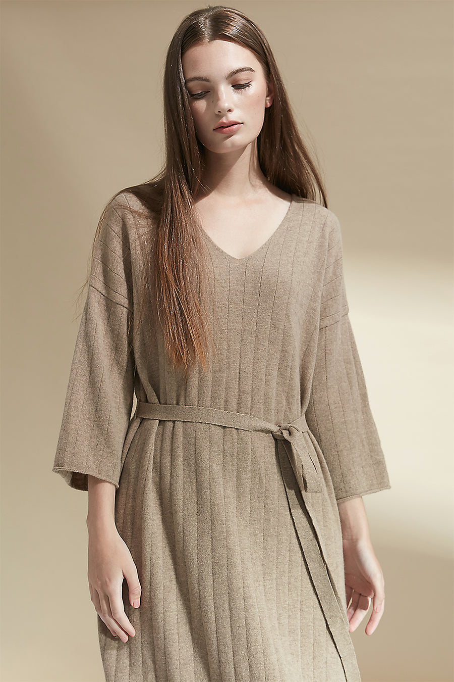Wool and cashmere-blend knitted dress